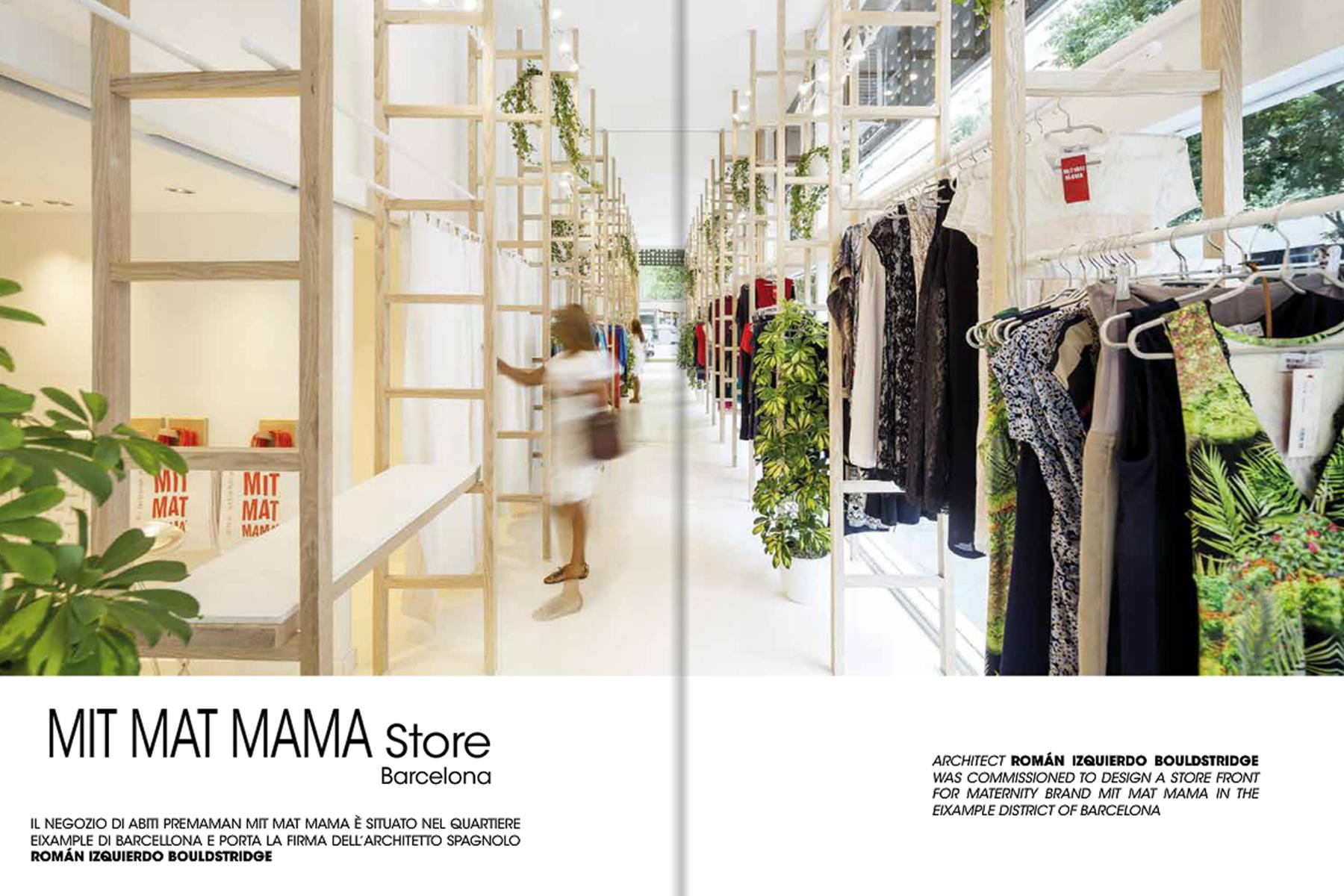 Botiga mit mat mama publicada en la revista l 39 arreda for L arreda negozi
